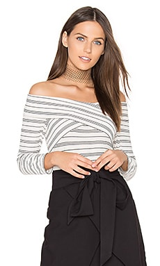 Drew Knit Off Shoulder Top in Ecru
