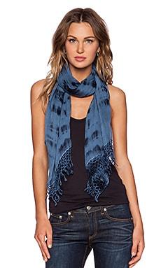 Gypsy 05 Flora Tie Dye Scarf in Indigo