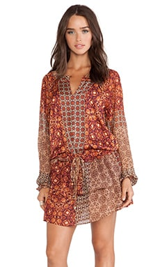 Gypsy 05 Girih Peasant Dress in Nutmeg Multi