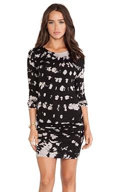Gypsy 05 Smalti Long Sleeve Mini Dress in Noir