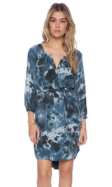 Gypsy 05 Silk Tunic Dress in Botanical Navy
