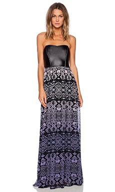 Gypsy 05 Corset Maxi Dress in Black & Maroon
