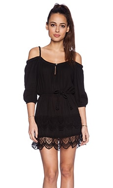 Gypsy 05 Off the Shoulder Dress in Black