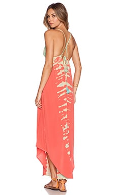 Gypsy 05 Crossback Maxi Dress in Coral