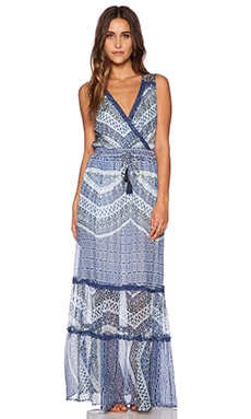 Gypsy 05 Paneled Maxi Dress in Multi Azure