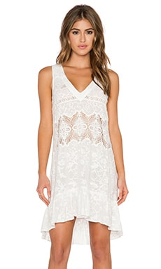 Gypsy 05 Embroidered Mini Dress in Ivory