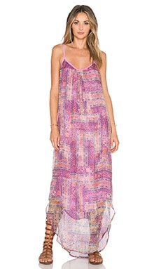 Gypsy 05 Scoop Back Maxi Dress in Multi Rose