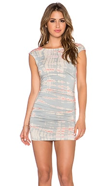 Gypsy 05 Bamboo Shirred Mini Dress in Limestone