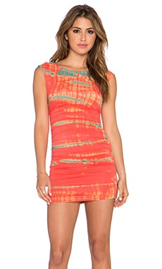 Gypsy 05 Bamboo Shirred Mini Dress in Poppy