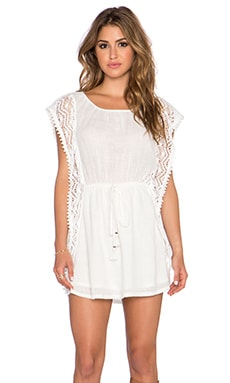 Gypsy 05 Flutter Mini Dress in White