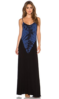 Bamboo Maxi Dress in Black