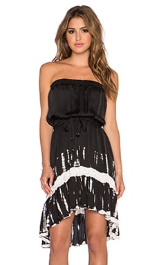 Gypsy 05 Strapless Hi-Low Mini Dress in Black