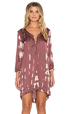 Gypsy 05 V Neck Tunic Dress in Zinfandel