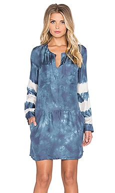Gypsy 05 Long Sleeve Tunic Dress in Navy