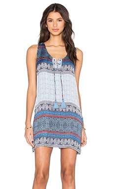 ROBE COURTE GROMMET LACED TANK