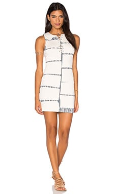 Lace Up Bamboo Dress in Natural