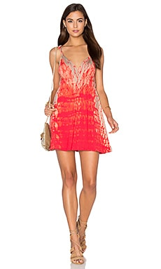 Bamboo Slide Slit Dress in Melon