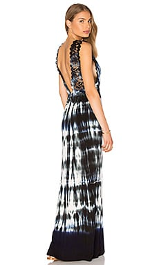 Gypsy 05 V Neck Lace Maxi Dress in Derek Charcoal