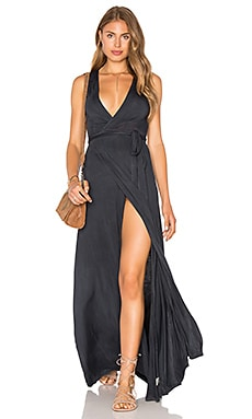 Wrap Maxi Dress en Sitra Black