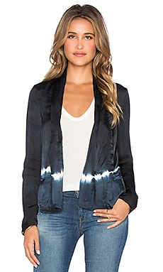 Gypsy 05 Pleated Jacket in Black & Navy