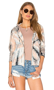 Crop Zip Hoodie Jacket in Selfe Sunset