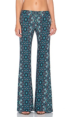 Gypsy 05 Printed Bell Bottom Pant in Blue Multi