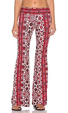 Gypsy 05 Printed Bell Bottom Pant in Ivory