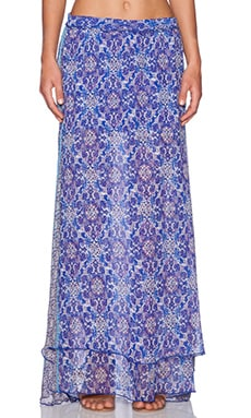 Gypsy 05 Georgette Maxi Skirt in Cobalt