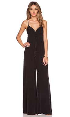 Gypsy 05 Wrap Jumpsuit in Black