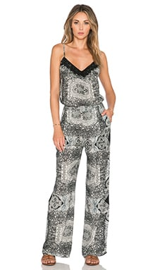 Gypsy 05 Printed Jumpsuit in Black