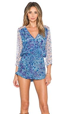 Gypsy 05 Printed Romper in Azure