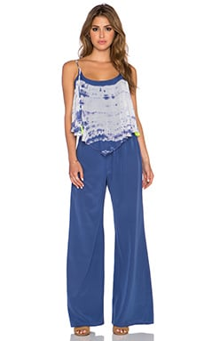 Gypsy 05 Flounce Neckline Jumpsuit in Twilight