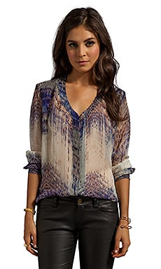 Gypsy 05 Annunaki Long Sleeve Button Down Shirt in Violet