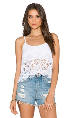 Gypsy 05 Crochet Tank in White