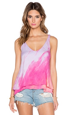 Gypsy 05 V-Neck Double Layer Tank in Blush