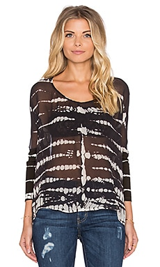 Gypsy 05 Bamboo 3/4 Sleeve Blouse in Black