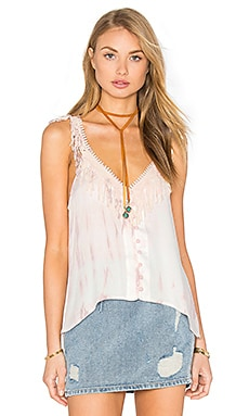 Crochet Fringe Tank in Vitti Rose Gold