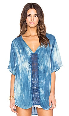 Dolman Sleeve Tunic in Blue