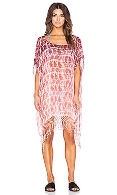Tie Dye Easy Poncho in Rose