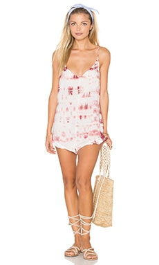 Low Back romper en Rose