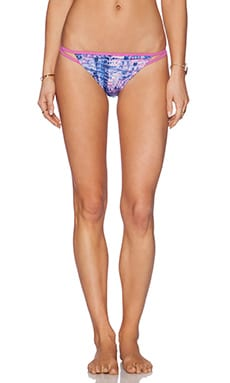 Gypsy 05 Tie Dye Keyhole Bikini Bottom in Pacific & Lilac