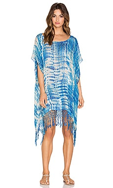 Gypsy 05 Truncata Tie Dye Easy Poncho in Blue