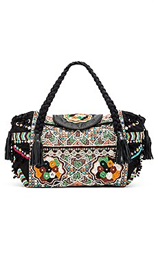 Gypsy 05 Moga Top Handle Bag in Moga Black