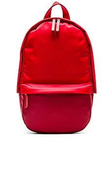 Haerfest Nylon Capsule Backpack in Red & Dark Red