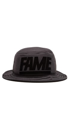 Hall of Fame Block Foam Bucket Hat in Black Heather