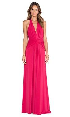 Halston Heritage Halter Gown in Raspberry