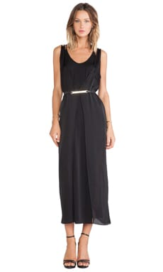 Layered Slip Dress in Black