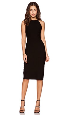Halston Heritage Strap Detail Sweater Dress in Black