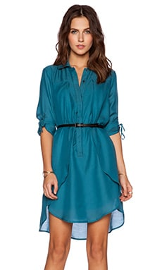 Halston Heritage Overlay Shirtdress in Atlantic
