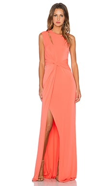 Halston Heritage Twist Cut Out Gown in Watermelon